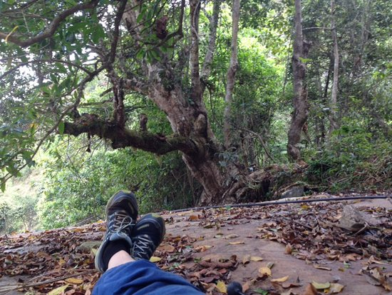 Morogoro, Tanzania: resting on a giant rock in the shade