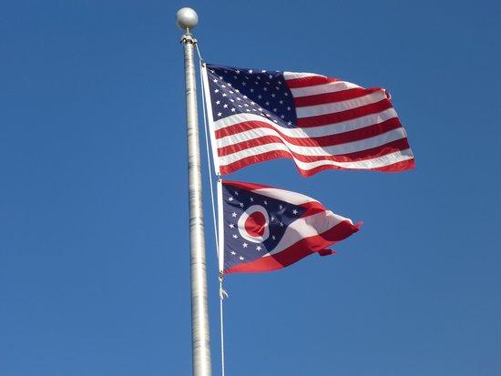 Wapakoneta, OH: Stars & Stripes + Ohio's Flag !