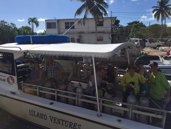 Island Ventures: One of our boats on the way out to dive! We have 2 of these boats that can take upto 10 divers e
