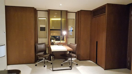 Four Seasons Hotel Seoul: Across From The Living Area Is A Desk With 2  Chairs