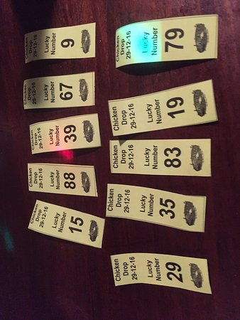 My 'lucky' numbers - I didn't win - Picture of Wahoo's Lounge, San