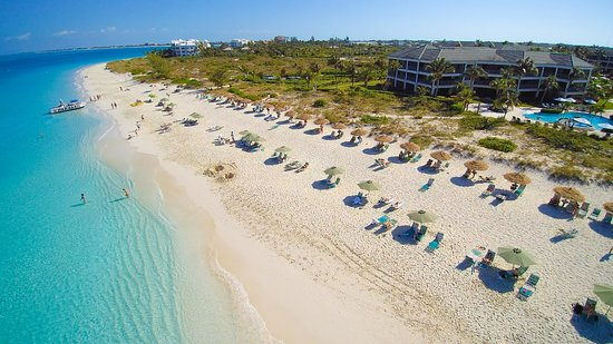 The Sands at Grace Bay - overview buildings, beach, and ocean