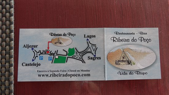 Vila do Bispo, Portugal: La localisation du restaurant