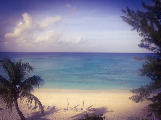 Caribbean Club: view from third floor beachfront suite @brandieseye