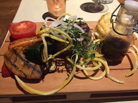 Lund, Sweden: great presentation at Stäket - pasta and steak