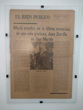 Museo de Juan Zorrilla de San Ma : publicacion en periodico de la epoca de su muerte