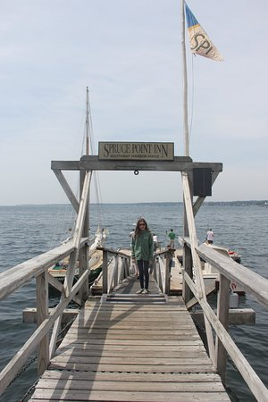Boothbay Harbor, ME: Spruce Point Inn Dock