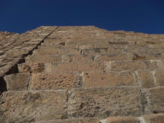 Tecozautla, Μεξικό: Main pyramid stairway