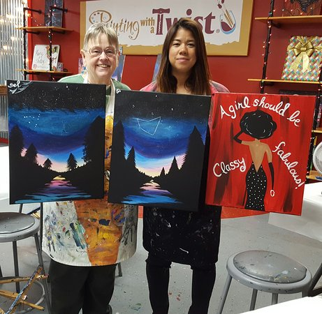 Modern Painting With A Twist Even though we had same instructor our paintings are different Luxury - Modern painting with a twist paintings Elegant