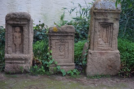 Cartagine, Tunisia: Crypt markers of a children's graves.