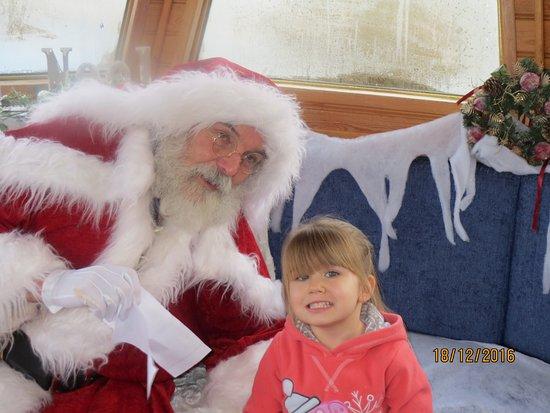 Hoghton, UK: Santa discussing the very long list