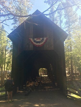 Wawona, CA: covered bridge