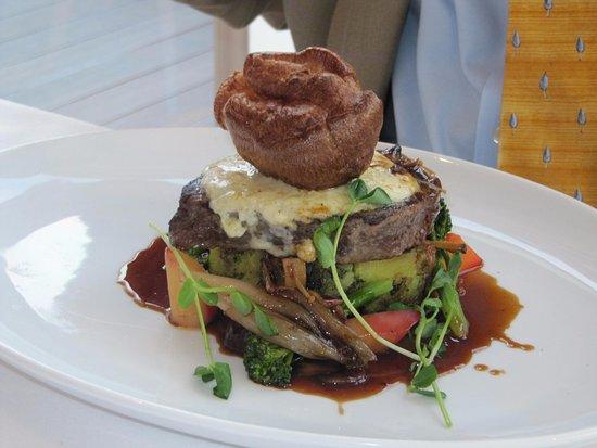 tempus at tides restaurant bar xmas dinner welsh black beef fillet horseradish