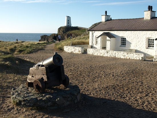 Newborough, UK: the old cannon used to alert the lifeboat men