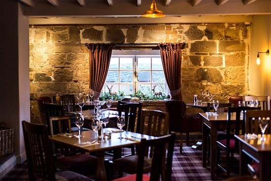 The Red Lion at Bradley: Original features within the restaurant at The Red Lion
