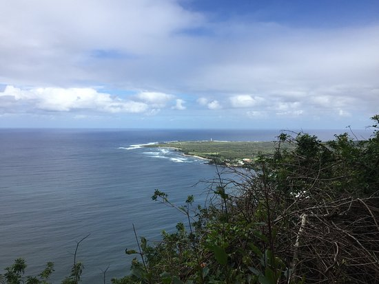 Kalaupapa National Historical Park : View from start of trail. Leper colony is in the distance.