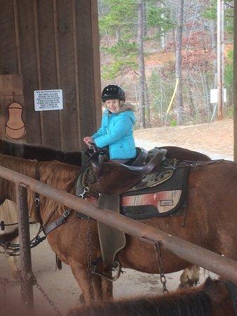 Copperhill, TN: Her first solo ride!