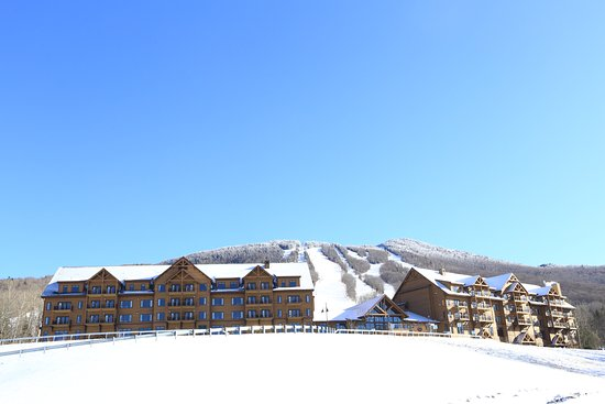Burke Mountain Hotel & Conference Center: Burke Mountain Hotel from a distance