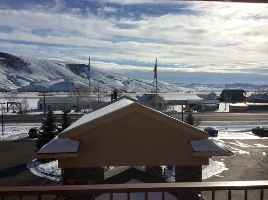 "Holiday Inn Express & Suites - Gunnison: From my room facing south across from ""W"" Mountain"