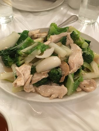 Wilton Manors, ฟลอริด้า: Delicious chicken with broccoli and Chinese veggies