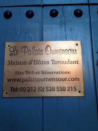 Palais Oumensour: Viste interne