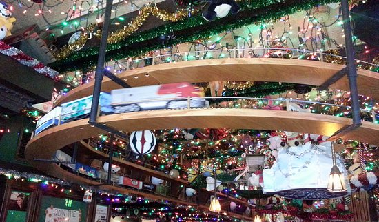 butch mc guires tavern a train on the lower track over the bar - Christmas Train Chicago