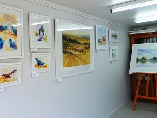 Watercolor Studio Gallery: NZ birds and landscape