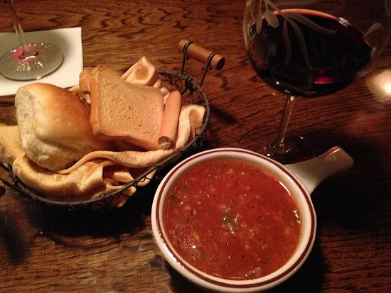DeFina's Italian Restaurant: Stuffed Green Pepper Soup, a great warm-up to a great meal.