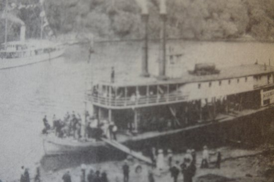 Old steamboat at wharf in Daphne