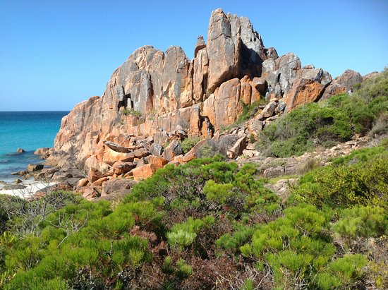 Castle Rock close to Dunsborough. Castle Beach was a big whaling spot in years gone by.