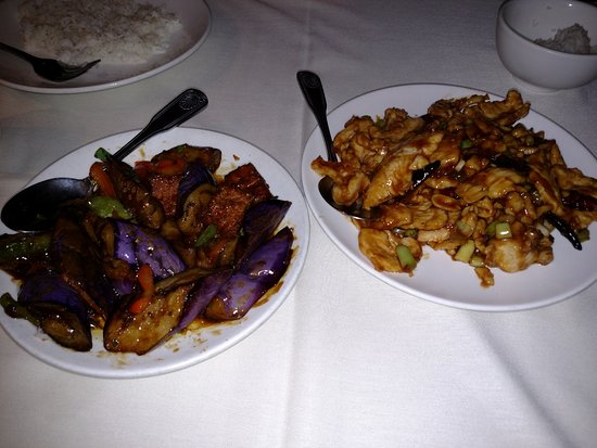 La Palma, Kalifornien: Spicy Eggplant/Tofu and Gen Pao Chicken