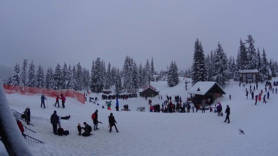 North Vancouver, Canada: The ice rink just outside the chalet
