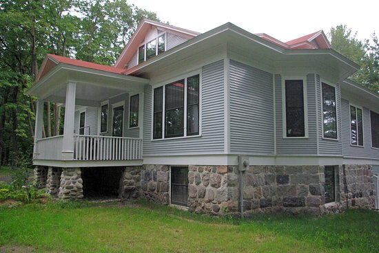 Little Falls, MN: Here you are looking at home from just right of the front of the house.