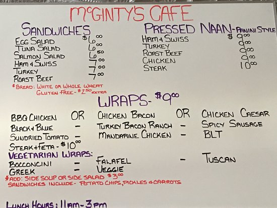 Meaford, Canada: McGintys Cafe