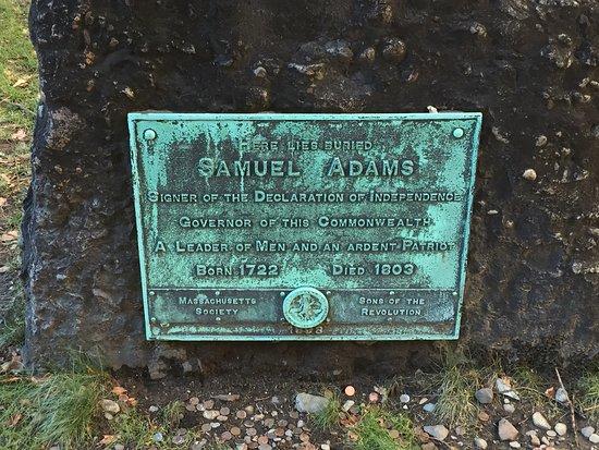 Lessons on Liberty: Samuel Adams grave.