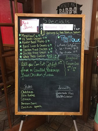 Quitman, TX: Chalkboard with Daily Specials