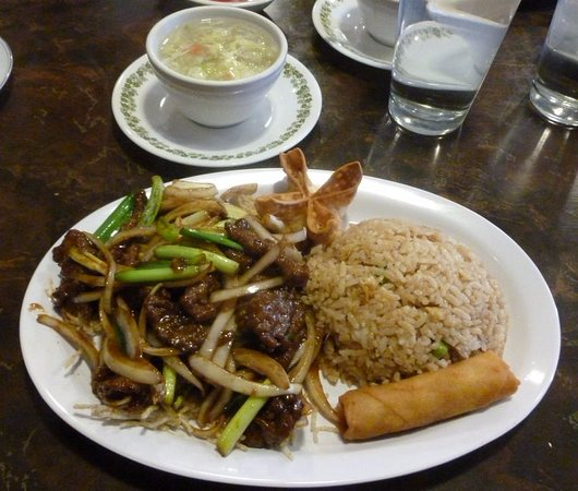 Cheney, WA: Mongo Beef Combo (rangoon not included)...