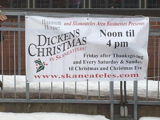 Skaneateles Lake - Dickens Festival sign