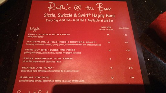 Happy Hour at Ruth's Chris at Ruth's Chris Steak House