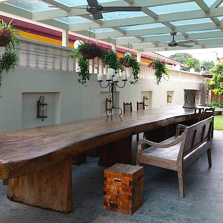 The Settlement Hotel: Beautiful Long Wooden Table, An Extension Of The  Dining Area.