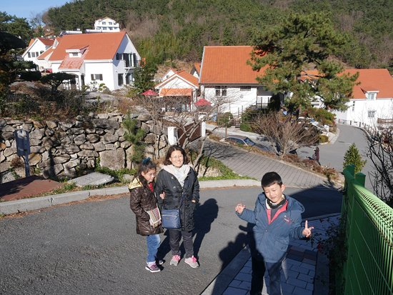Namhae-gun, Corea del Sur: Buildings and the street