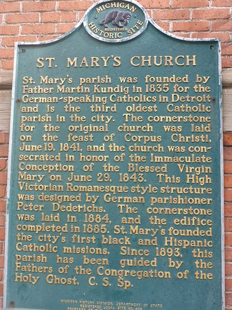 Old St. Mary's Church: St Mary's Church History Board