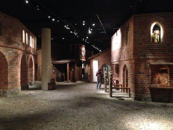 Stockholms medeltidsmuseum (Stockholmer Mittelaltermuseum): nachempfundenes Dorf