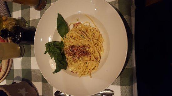 Usedom, Tyskland: Spaghetti Carbonara