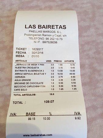 Chiva, Spain: Factura