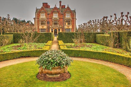 Sandringham, UK: View of The House from the Formal Garden