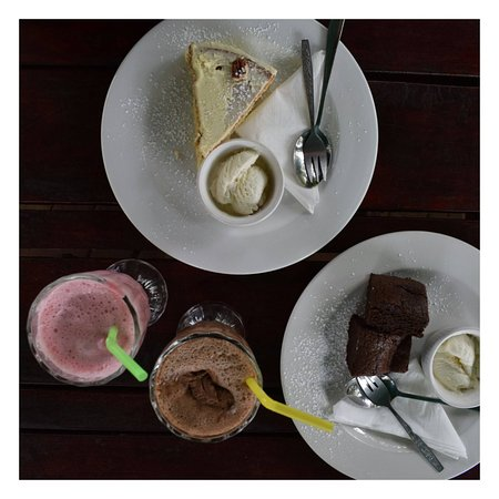 Delightful treats at a lovely hidden gem that is the Coffee Buzz on the Kasane riverfront.