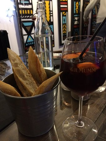 Pyrenees-Atlantiques, France : French baguette & Sangria