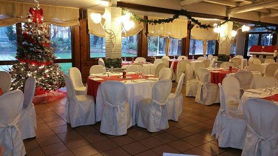 Mordano, Italia: Sala veranda allestita per Natale