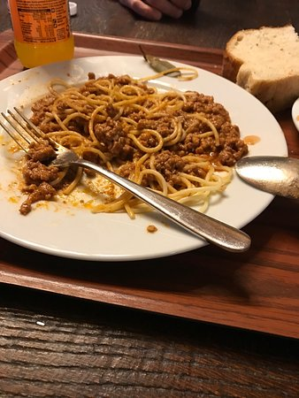 Gospic, Κροατία: I eat bolognese spagetti, it not good, it's expensive for this quality. I'm dispiointed
